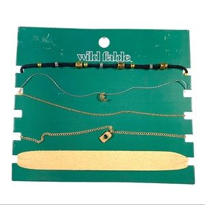 Wild Fable Choker Necklaces 5 Pack NWT